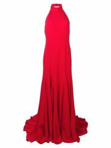 Stella McCartney Magnolia halterneck gown - Red