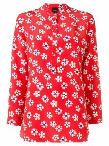 Aspesi floral print shirt - Red
