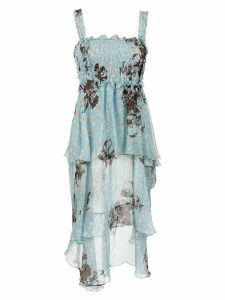 Clube Bossa midi silk dress - Blue