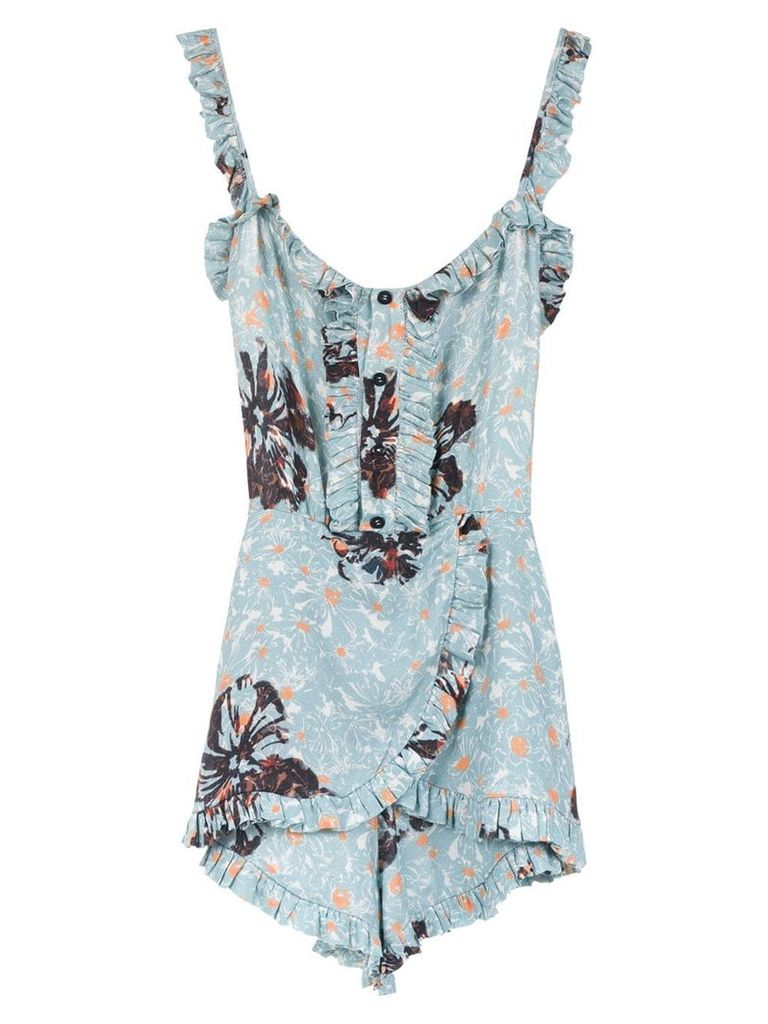 Clube Bossa ruffled Folinna playsuit - Blue