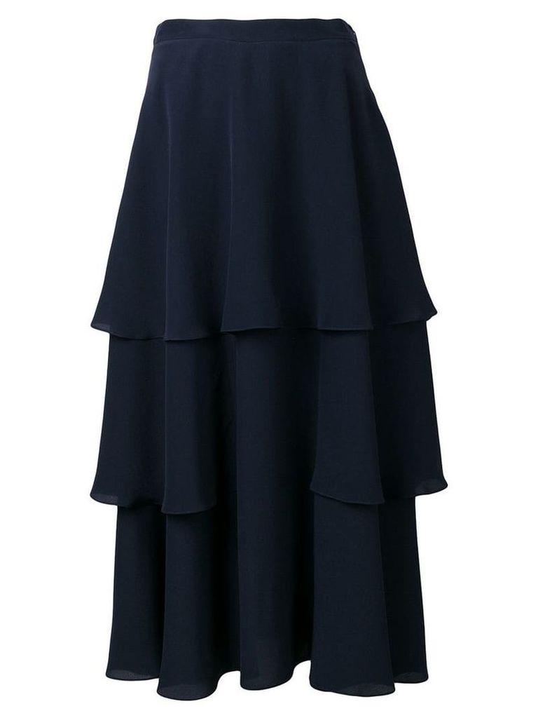 Stella McCartney soft frill tiered skirt - Blue