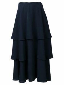 Stella McCartney soft frill tiered skirt - Blue