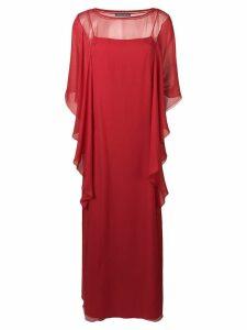 Alberta Ferretti ruffled maxi dress - Red
