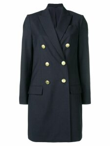 Brunello Cucinelli double breasted coat - Blue
