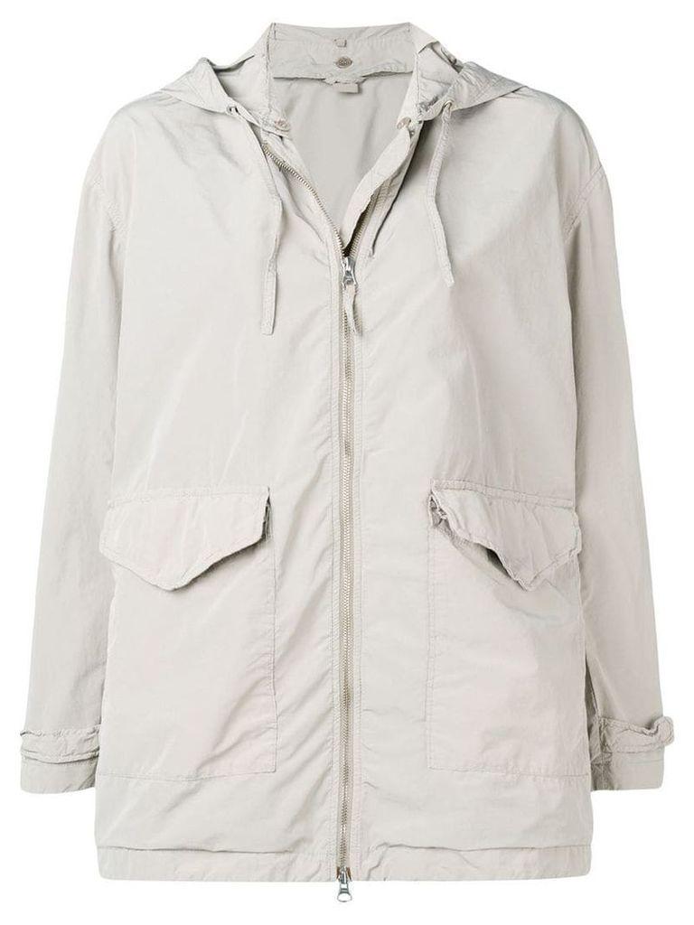 Aspesi grey hooded raincoat - Neutrals