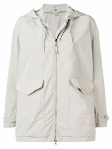 Aspesi grey hooded raincoat - Neutrals