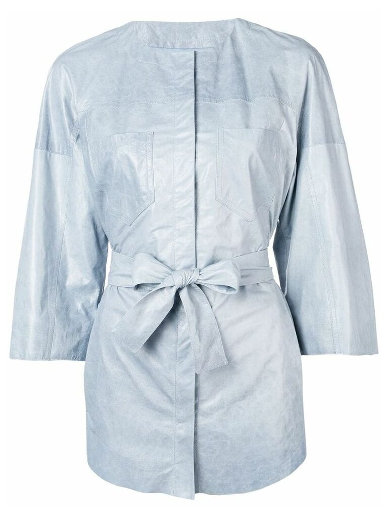 Drome tie waist jacket - Blue