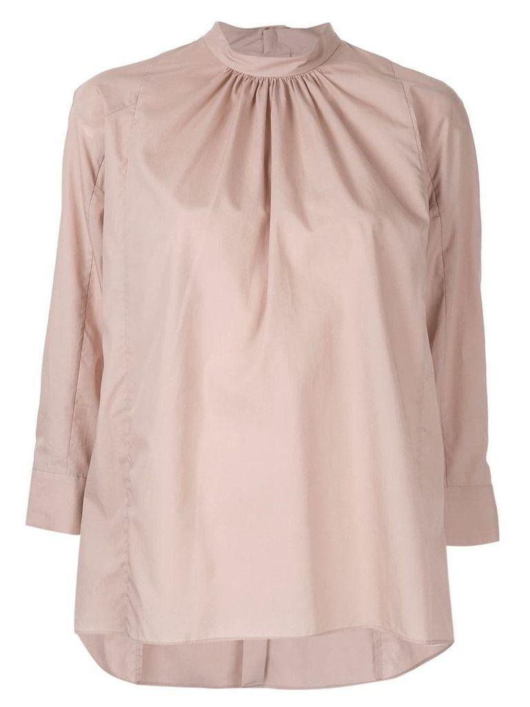 Des Prés three-quarter sleeve blouse - Pink