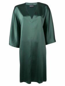 Gianluca Capannolo sheen oversized dress - Green