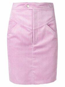 Isabel Marant cord mini skirt - Purple
