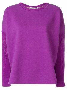Agnona basket net sleeve sweatshirt - Purple