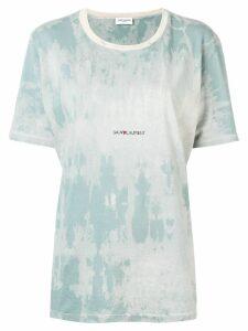 Saint Laurent Rive Gauche tie-dye T-shirt - Blue