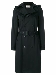 Saint Laurent belted trench coat - Black