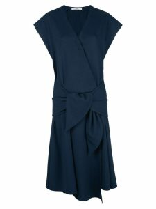 Tibi loose-fit wrap dress - Blue