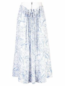 Tibi isa toile double waist skirt - White