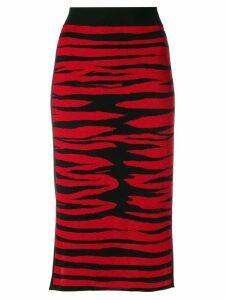 Sonia Rykiel striped midi skirt - Red