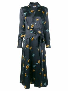 Equipment floral print dress - Blue
