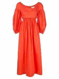 Isa Arfen panelled ruched dress - Orange