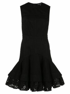 Alexander McQueen fit and flare short dress - Black