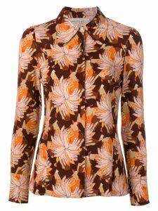 L'Autre Chose abstract print blouse - Brown