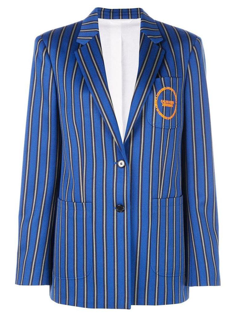 Calvin Klein striped oversized blazer - Blue