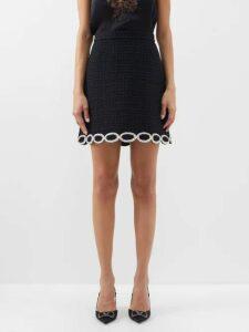 Saint Laurent - Monogramme Suede Shoulder Bag - Womens - Black