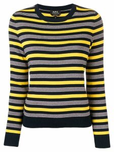 A.P.C. striped knitted top - Blue
