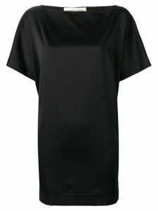 Lamberto Losani oversized short-sleeve top - Black