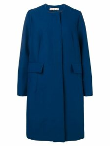 Marni oversized collarless coat - Blue