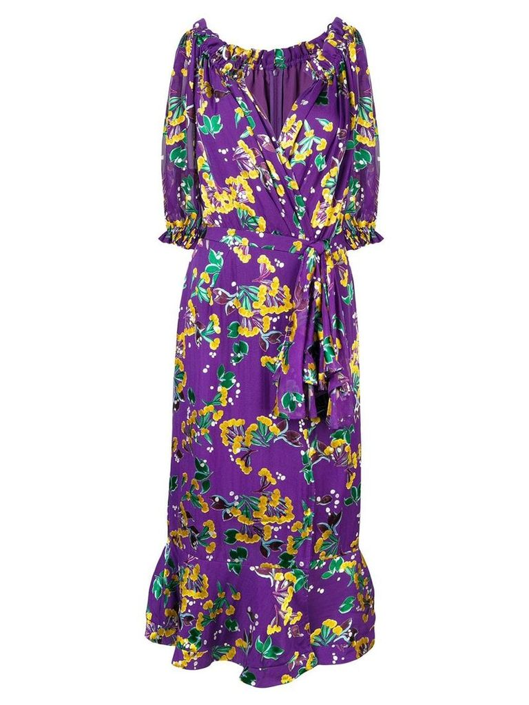 Saloni Olivia midi dress - Purple