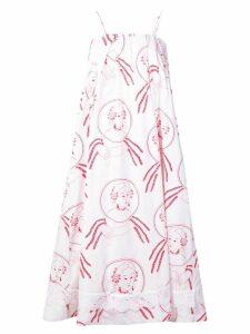 Simone Rocha dreamcatcher print beach dress - White