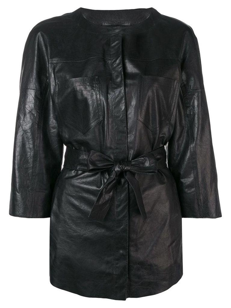 Drome tie waist jacket - Black