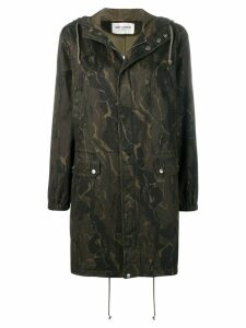 Saint Laurent camouflage parka - Green