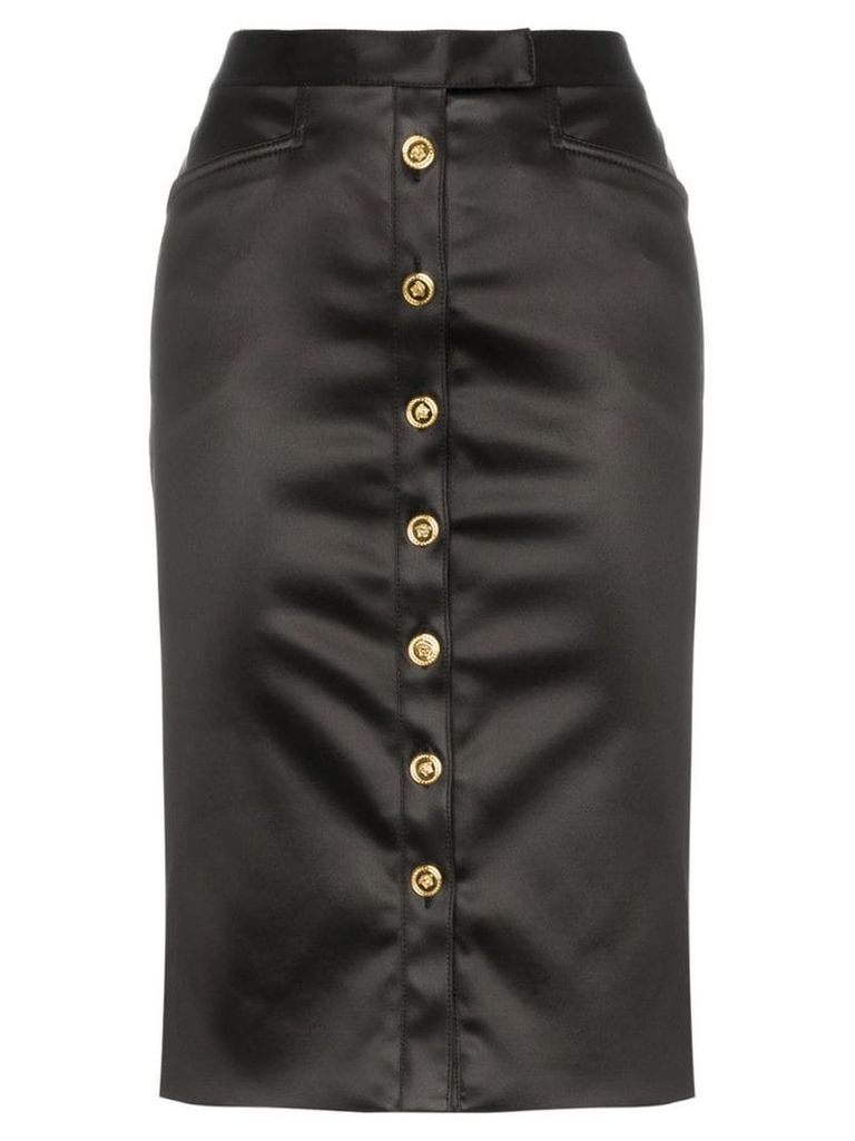 Versace Button front pencil skirt - Black