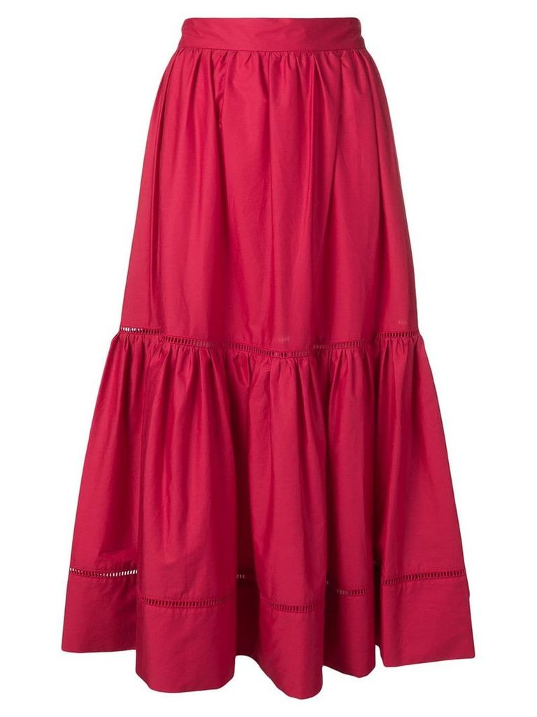 Twin-Set ruffle midi skirt - Red