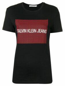 Calvin Klein Jeans logo stars print T-shirt - Black