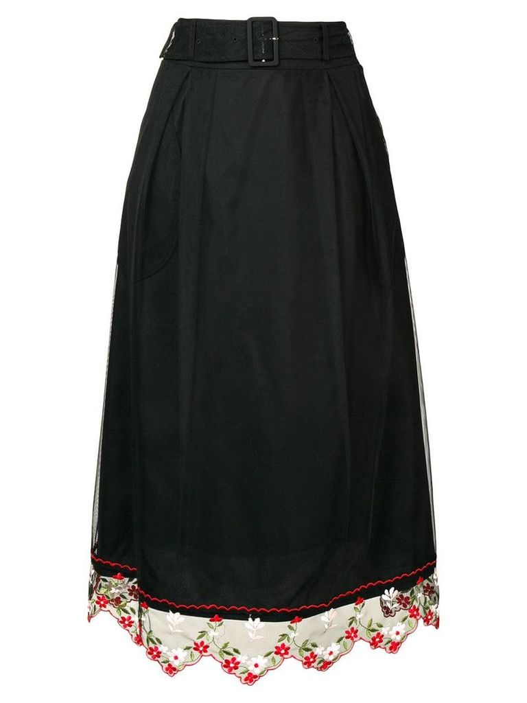 Simone Rocha lace hem skirt - Black