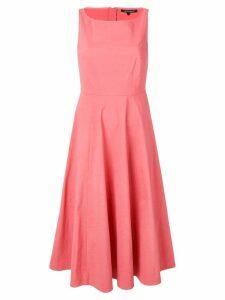 Luisa Cerano sleeveless drape dress - Pink
