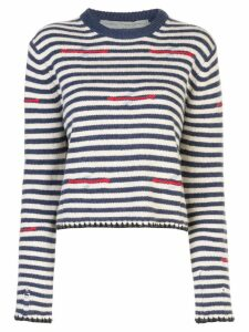 Raquel Allegra striped crew neck jumper - Blue