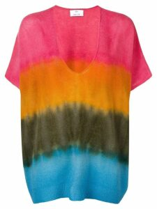 Allude colourblock knitted top - Pink