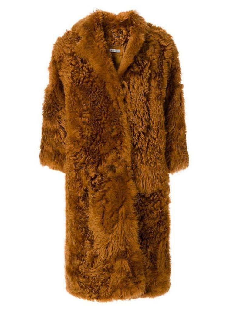 Desa 1972 oversized fur coat - Brown