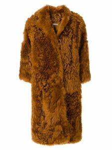 Desa 1972 oversized fur coat - Brown