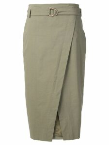 Luisa Cerano wrapped front skirt - Green