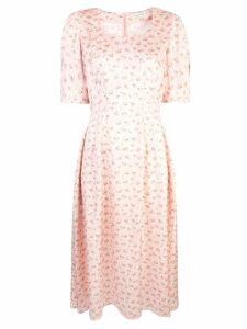 Jill Stuart floral print midi dress - Pink