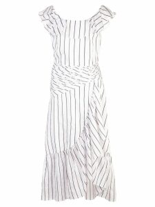 Jill Stuart striped midi dress - White