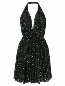 Saint Laurent heart printed dress - Black