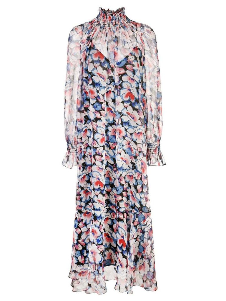Jill Stuart floral print midi dress - Multicolour