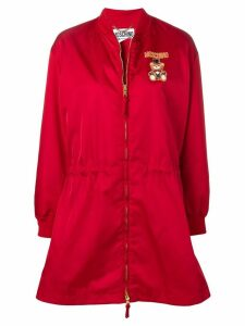Moschino teddy circus zipped raincoat - Red