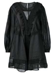 Isabel Marant long-sleeve flared dress - Black