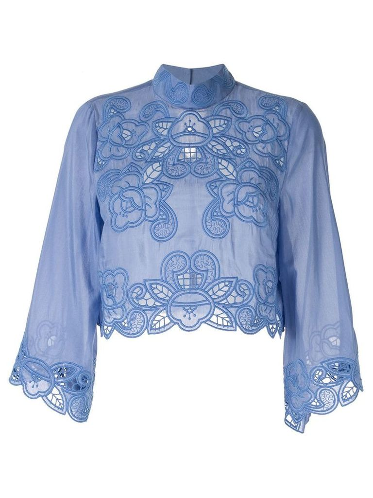 Alice Mccall 'Love Take Over' crop top - Blue
